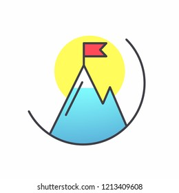 Mountain Icon, symbol. Vector. EPS 10