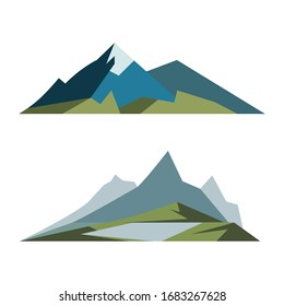 Mountain icon Template Vector illustration design