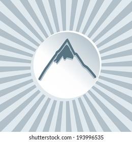 mountain icon, vector