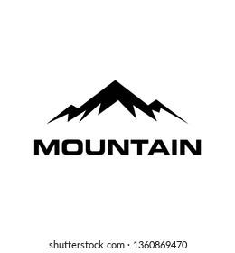 mountain icon vector design