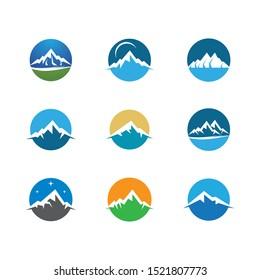 Mountain icon vector illustration design