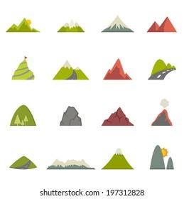 Mountain icons vector eps10