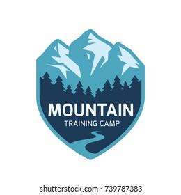 Mountain label. Vector icon.