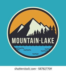 Mountain Lake Circular Logo Badge