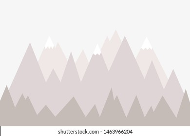 Mountain landscape, mountain mural, wall decoration for chil;ren's room