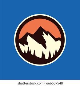 Mountain landscape, vector icon.