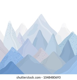 Mountain landscape vector illustration. Abstract Background.