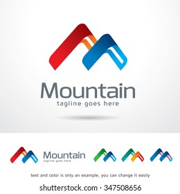 Mountain Letter M Logo Template Design Vector