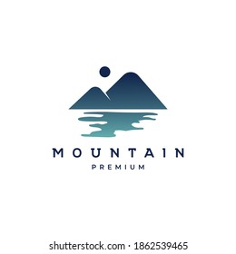 Mountain logo design illustration vector template