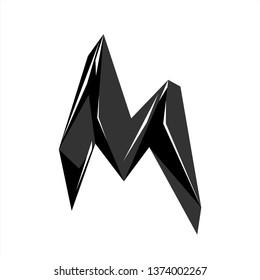 mountain logo design inspiration . letter M logo design template . outdoor logo template