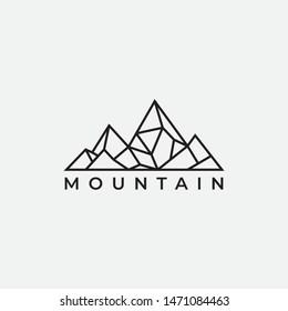 Mountain logo design template.creative stones icon vector