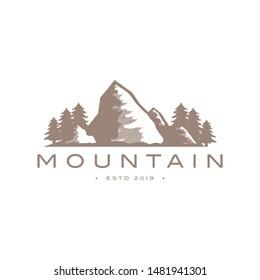 mountain logo design vector template