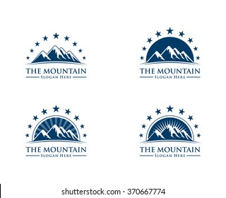 Mountain logo, elegant mountain vector logo design