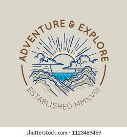 Mountain logo emblem concept