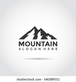 Mountain Logo. Flat design logo template. Vector Illutrator eps.10