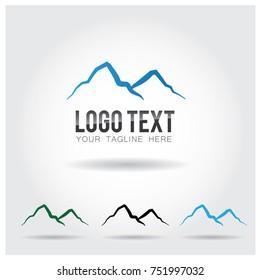 Mountain Logo Icon Vector Template