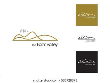 Mountain  logo. Stable, farm,Valley,Company, Race logo design.
