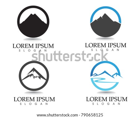 Mountain Logo Symbols Template Icons Vector Stock Vector