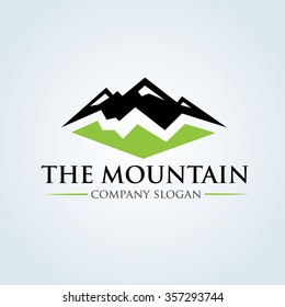 The Mountain Logo template