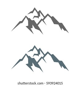 mountain logo template stock vector royalty free 593917037