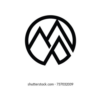 Mountain Logo Template Design Vector, Emblem, Design Concept, Creative Symbol, Icon