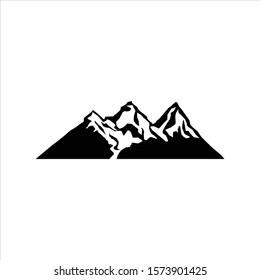 mountain logo template, mountain element modern style vector design for logo, rock climbing logo.