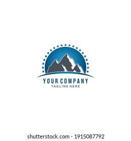 Mountain logo template. Vector Eps10