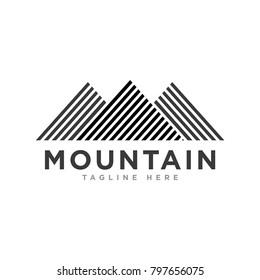Mountain Logo Template Vector Icon