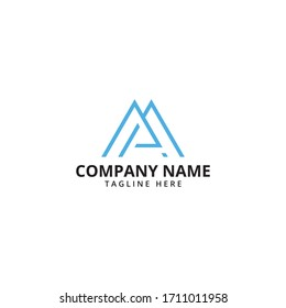 Mountain Logo Template. Vector Illustrator.