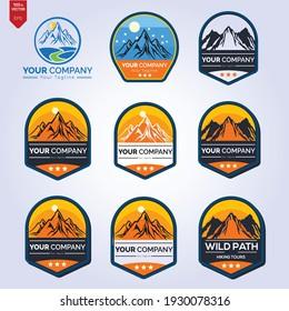 Mountain Logo Template. Vector Illustrator Eps.10