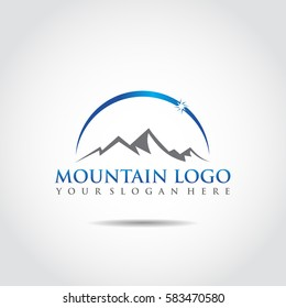Mountain Logo Template. Vector Illustrator Eps.10