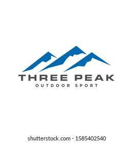 "Mountain logo with text ""Three Peak"" below"
