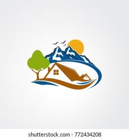 mountain logo vector for business
