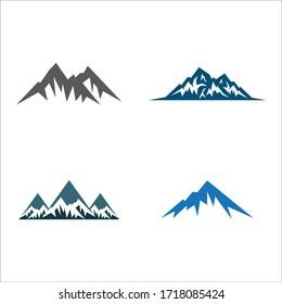 Mountain logo vector icon design
