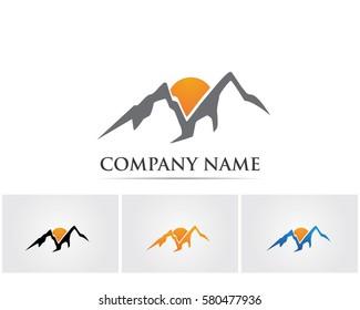 Mountain logo vector icons template