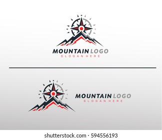 Mountain Logo Vector Template for Outdoor company logo