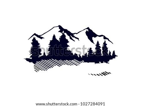 mountain outdoor logo design template element stock vector royalty