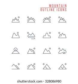 Mountain Outline Icons