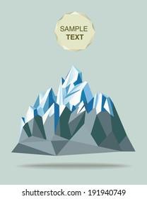 mountain paper polygon style illustration