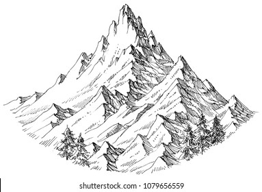 Mountain peak isolated