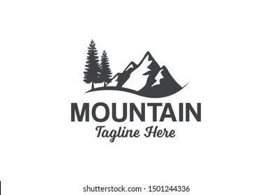 Mountain Peak Logo template design vector illustration