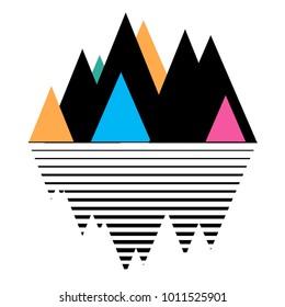 Mountain print. Travel poster. Vector illustration eps10.