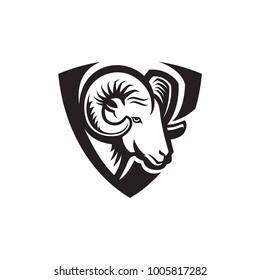 Mountain ram logo template mascot