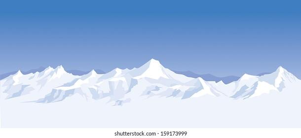 mountain range background