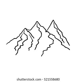 Mountain Outline Logo Images, Stock Photos & Vectors | Shutterstock