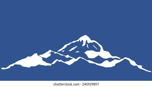Mountain range isolated. Vector illustration.