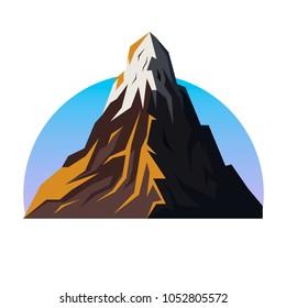 Mountain range vector emblem