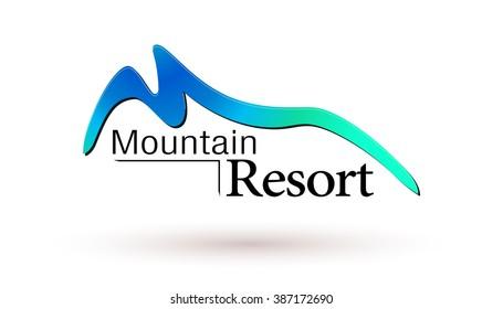 Mountain resort logo.