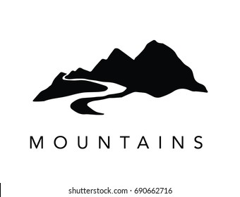 mountain river vector images stock photos vectors shutterstock https www shutterstock com image vector mountain rivers 690662716