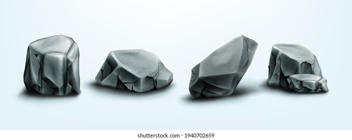 Mountain rocks, stones, boulders natural elements